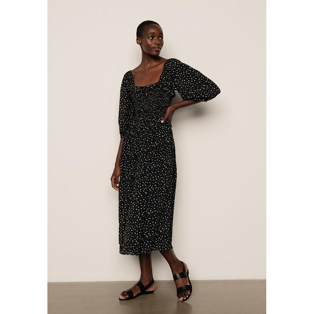 Lily & Lionel Matilda Cotton Dress in April Gold Black