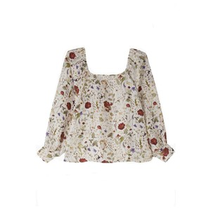Lily & Lionel Gemma Silk Top in Ivory Pressed Floral