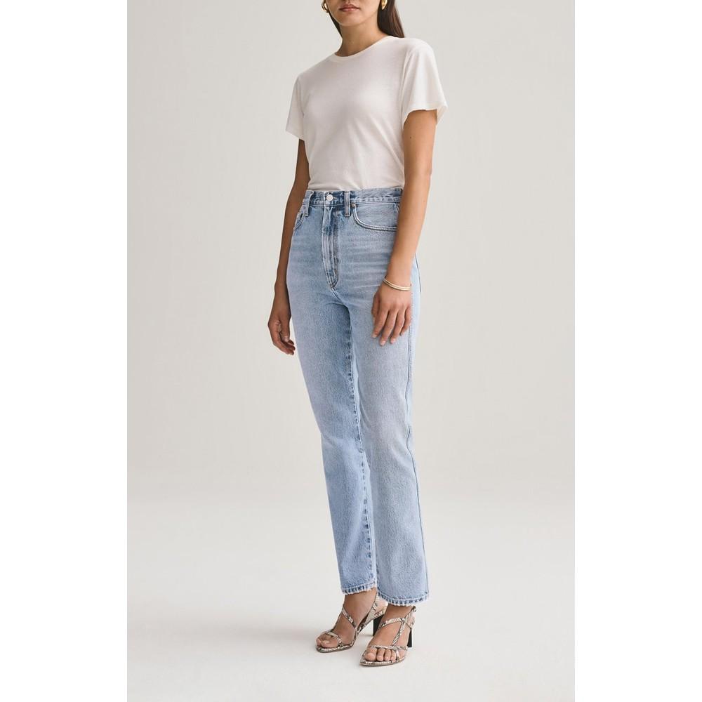 Agolde Pinch Waist Jeans in Riptide Light Denim