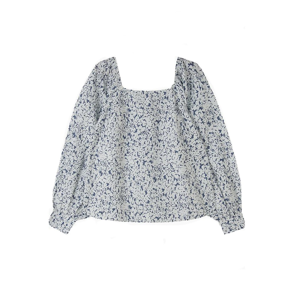 Lily & Lionel Gemma Cotton Top in Blue Blue