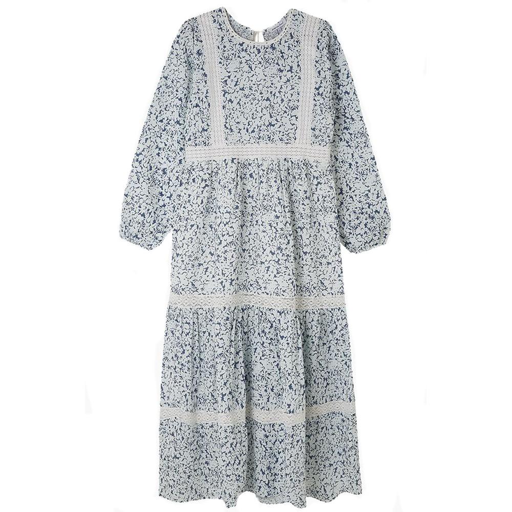 Lily & Lionel Lara Dress in Indigo Blue