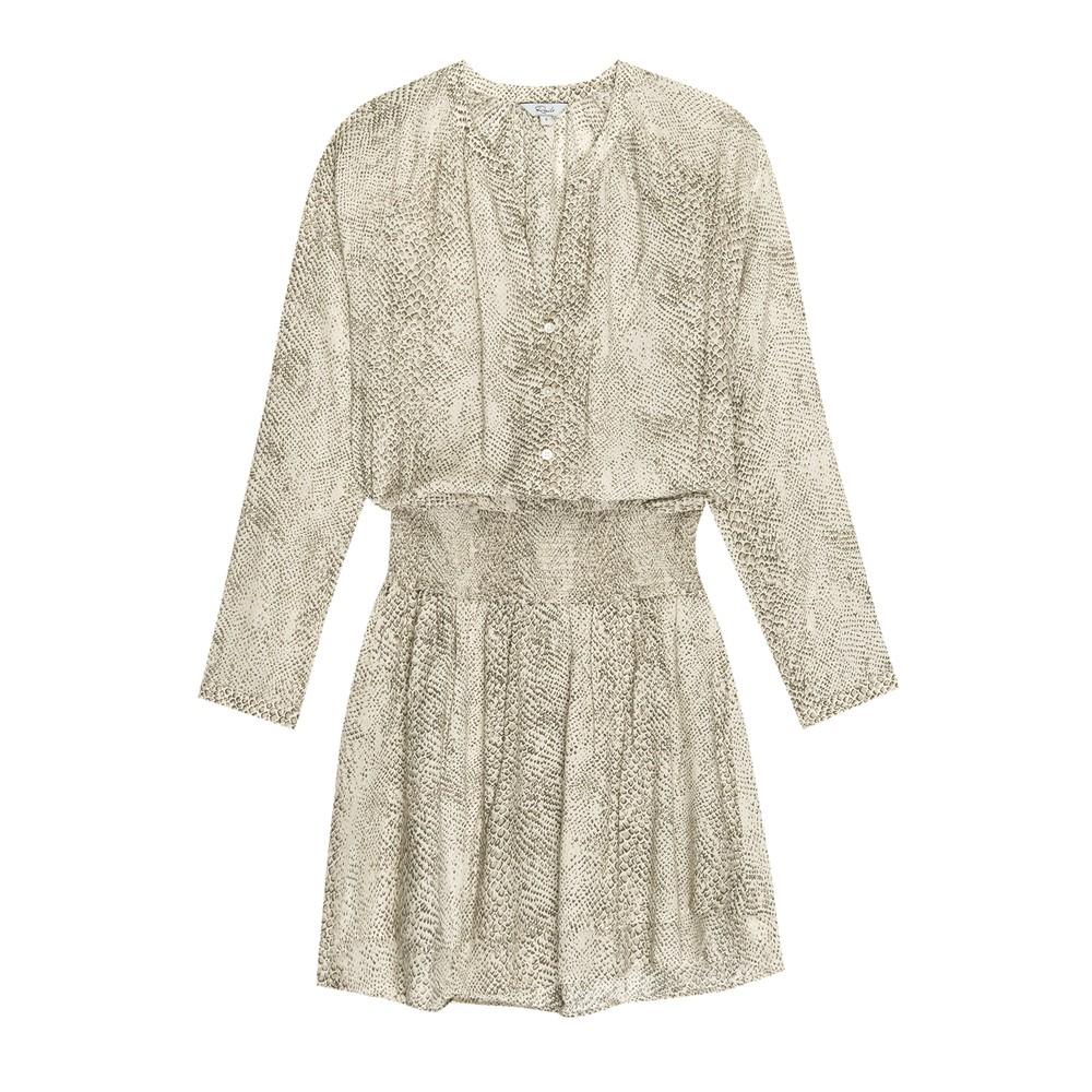Rails Jasmine Dress in Cream Snakeskin Cream