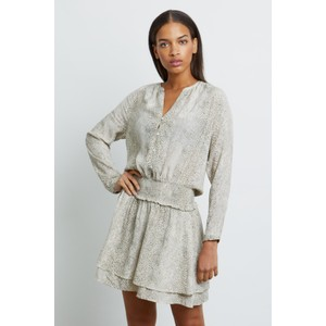 Rails Jasmine Dress in Cream Snakeskin