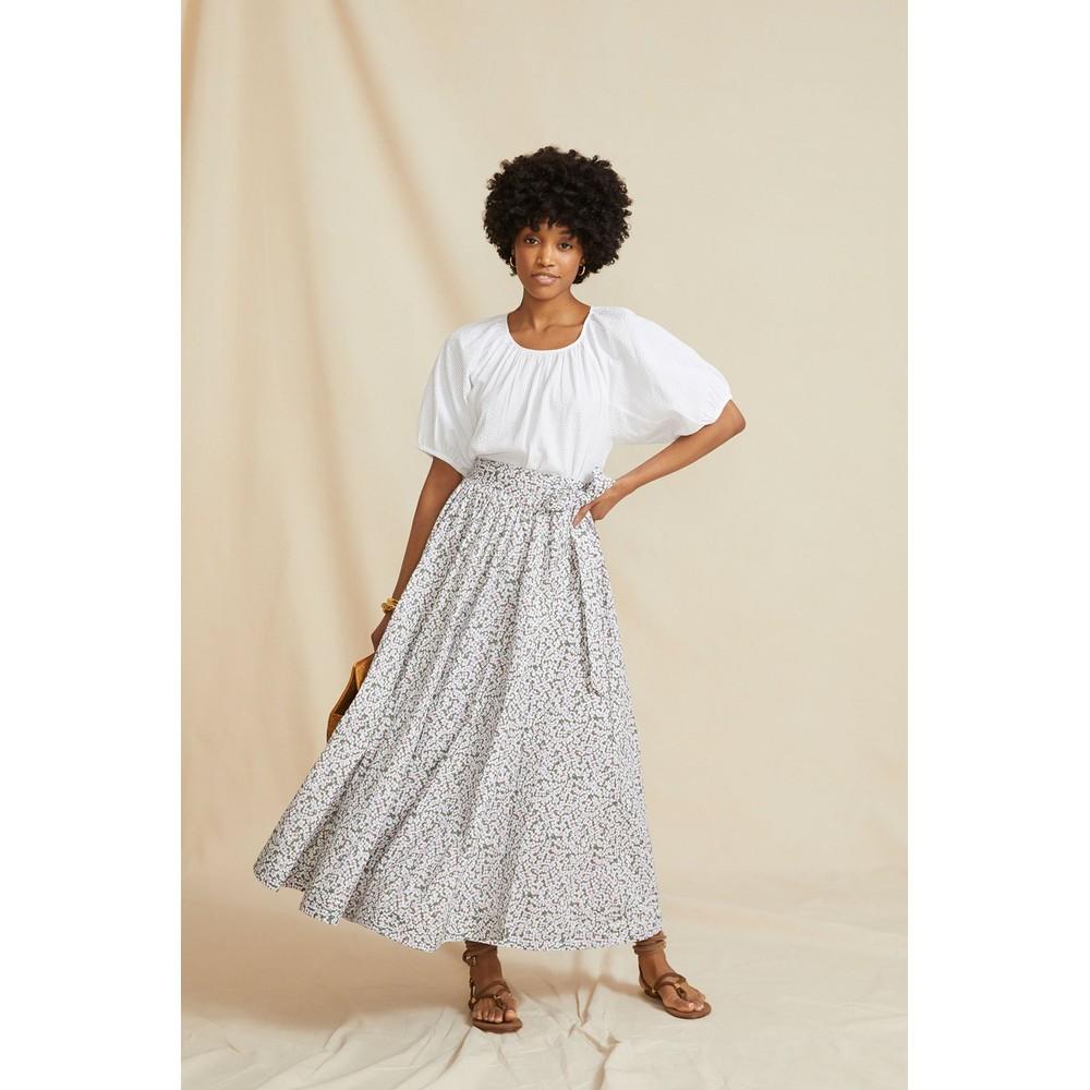 Seraphina The Wrap Skirt Khaki Floral Multicoloured