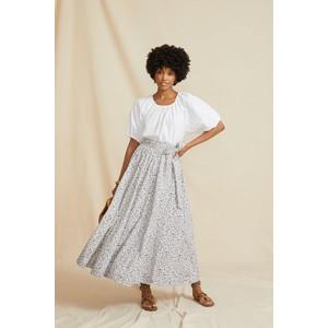 Seraphina The Wrap Skirt Khaki Floral