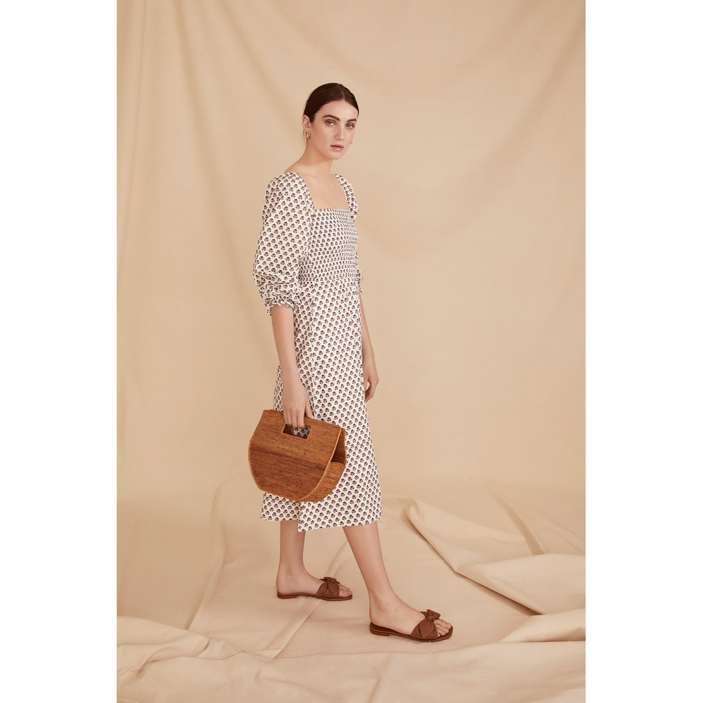 Seraphina The Piazza Dress Brown Booti White
