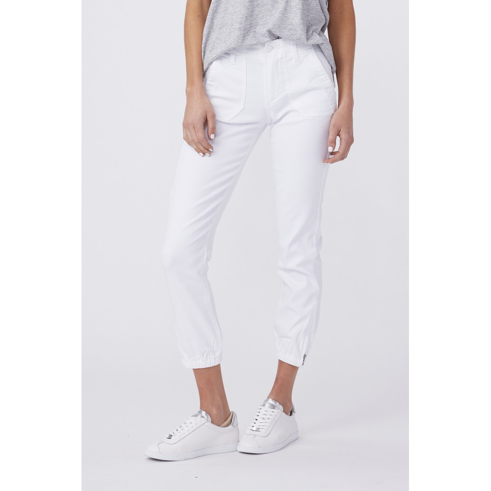 Paige Mayslie Jogger in White White