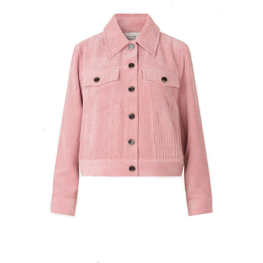 Second Female Boyas Jeans Jacket Pink