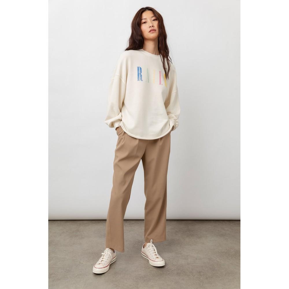 Rails Signature Sweatshirt in Ivory White
