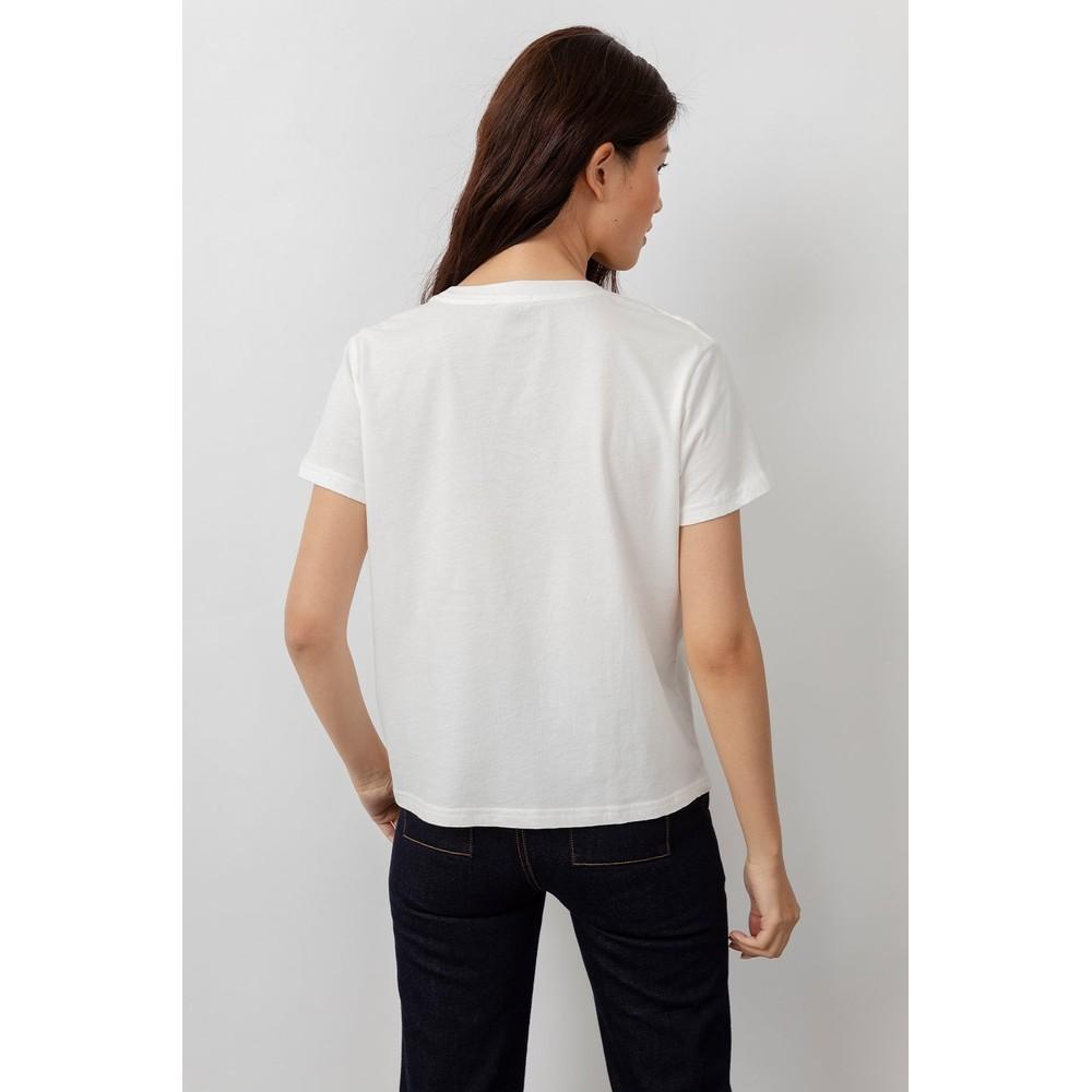 Rails The Classic Crew Logo T Shirt in White White