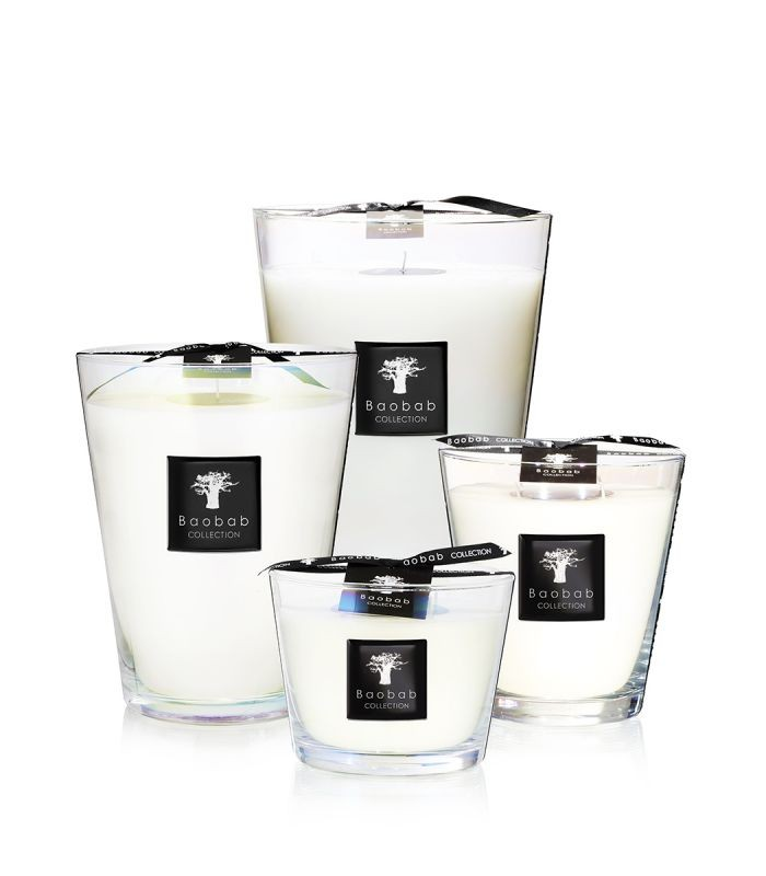 Baobab Collection Madagascar Vanilla Luster Candle Max 10 White