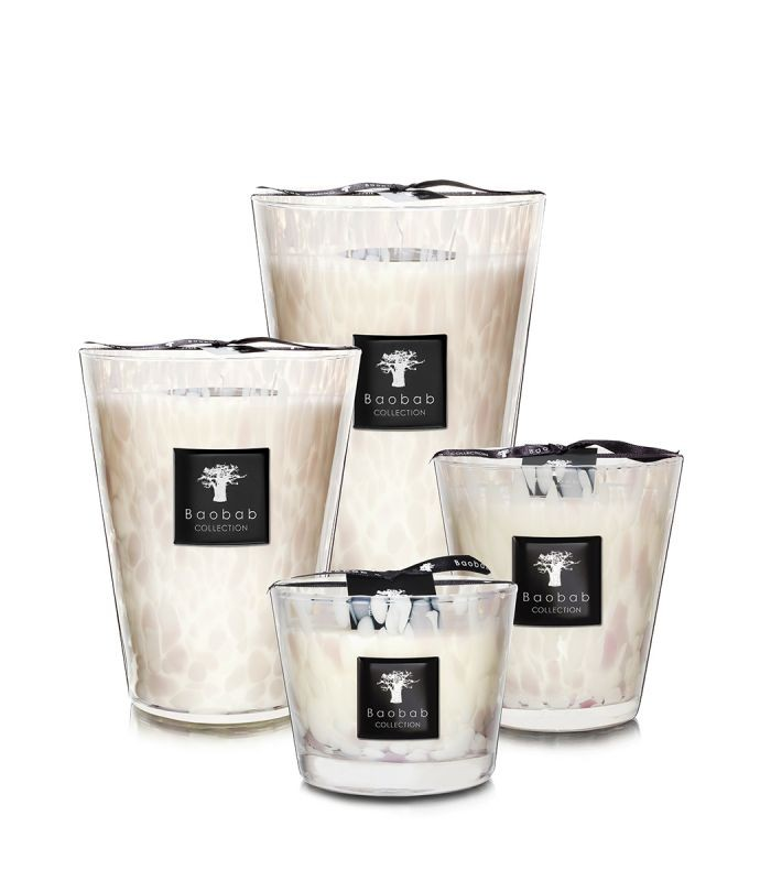 Baobab Collection White Pearls Candle Max 16 White