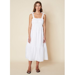 Faithfull The Brand Bellamy Midi Dress in White