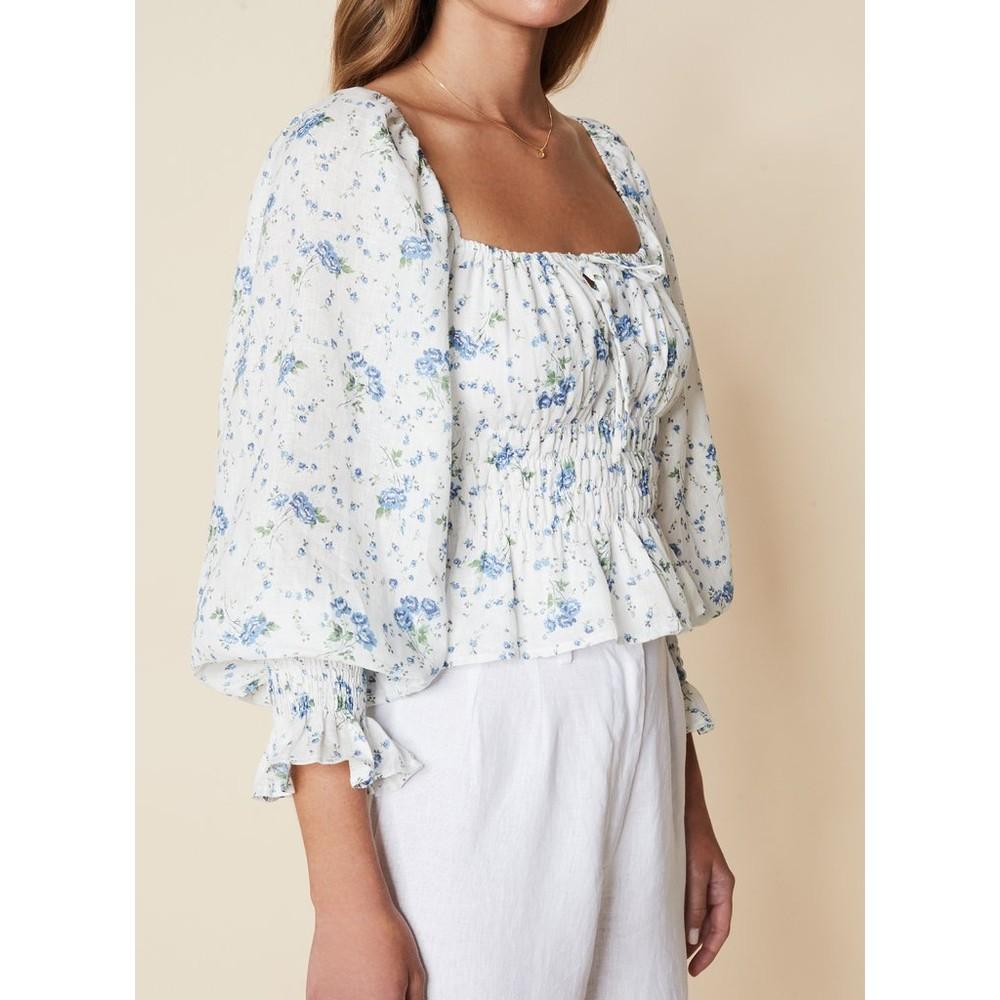 Faithfull The Brand Gillian top in Astoria Floral Print Blue