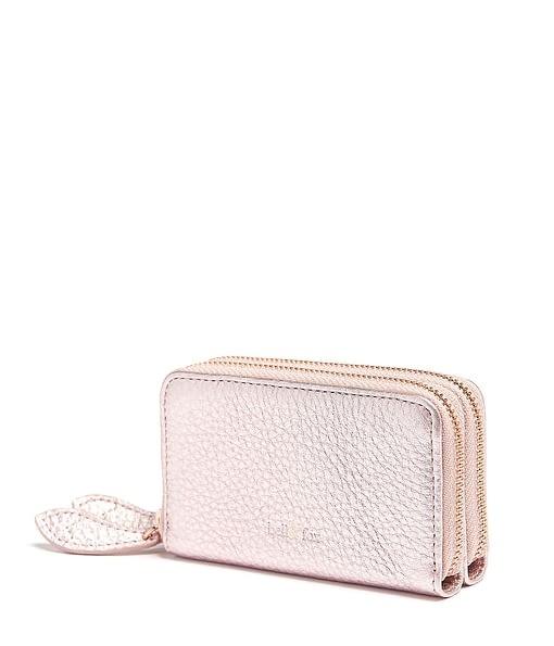 Bell & Fox Ava Mini Purse in Metallic Pink Pale Pink