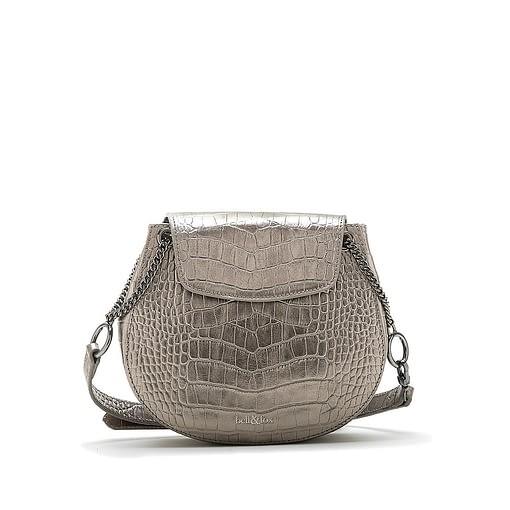 Bell & Fox Iris Chain Saddle Bag in Pewter Metallic