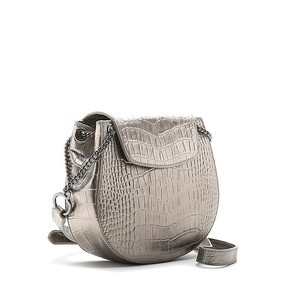 Bell & Fox Iris Chain Saddle Bag in Pewter