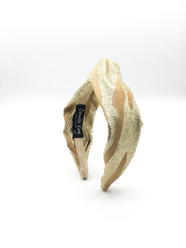 Camilla King Gold Zebra Headband Gold