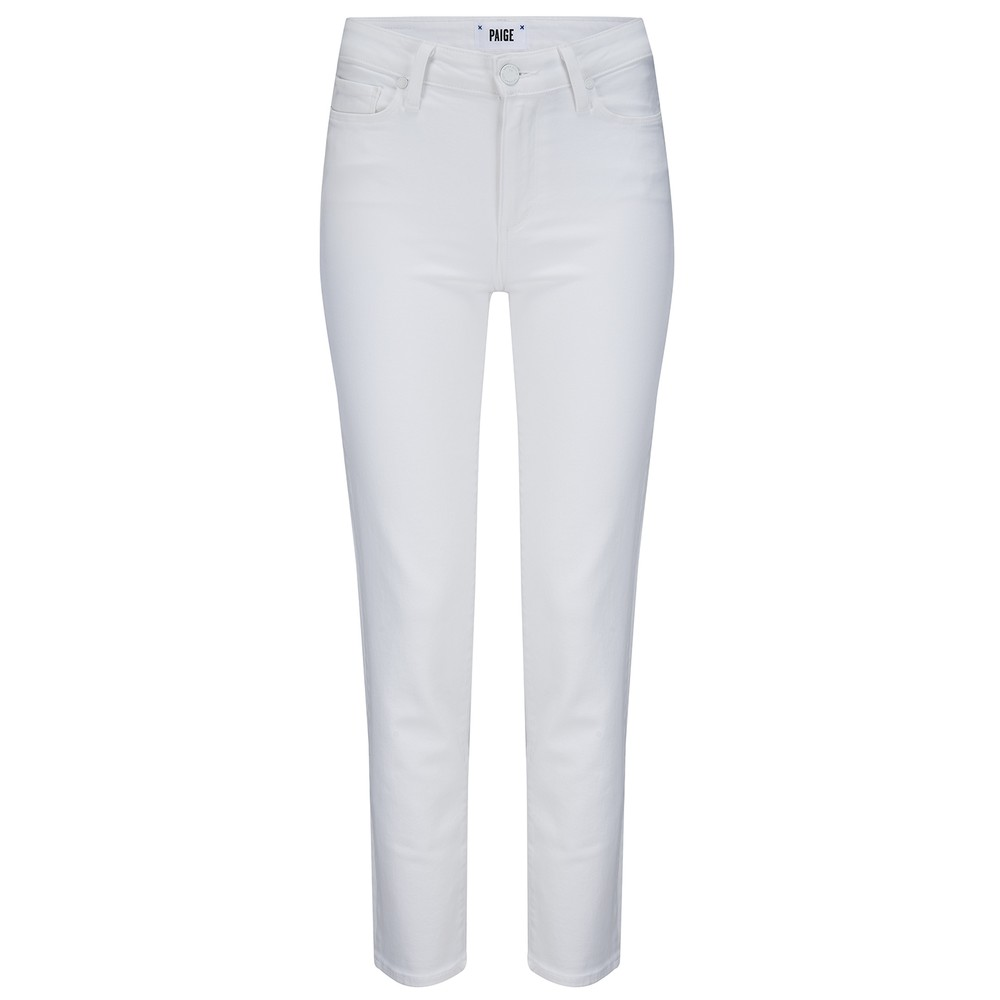 Paige Hoxton Straight Ankle Jeans in White White
