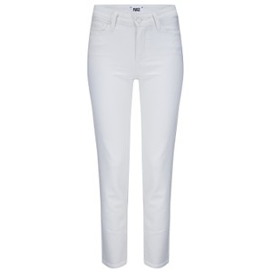 Paige Hoxton Straight Ankle Jeans in White