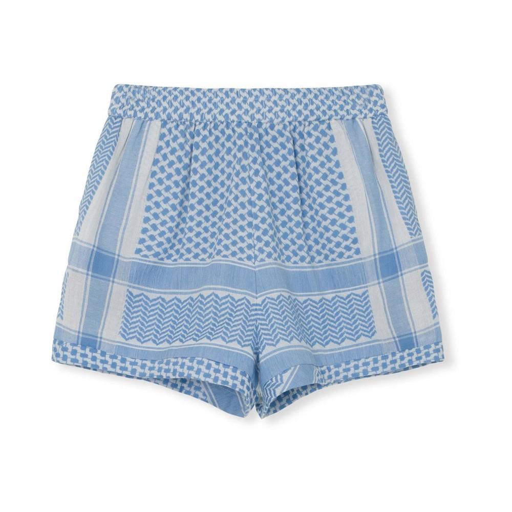 Cecilie Copenhagen Handloom Shorts in Denim Blue