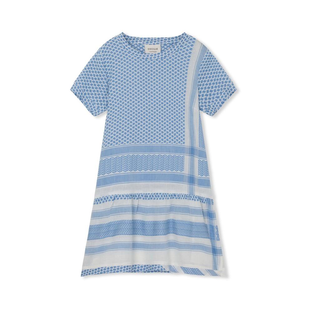 Cecilie Copenhagen Dress 2 O Short Sleeve in Denim Blue