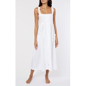 Juliet Dunn Poplin Tie Shoulder Dress