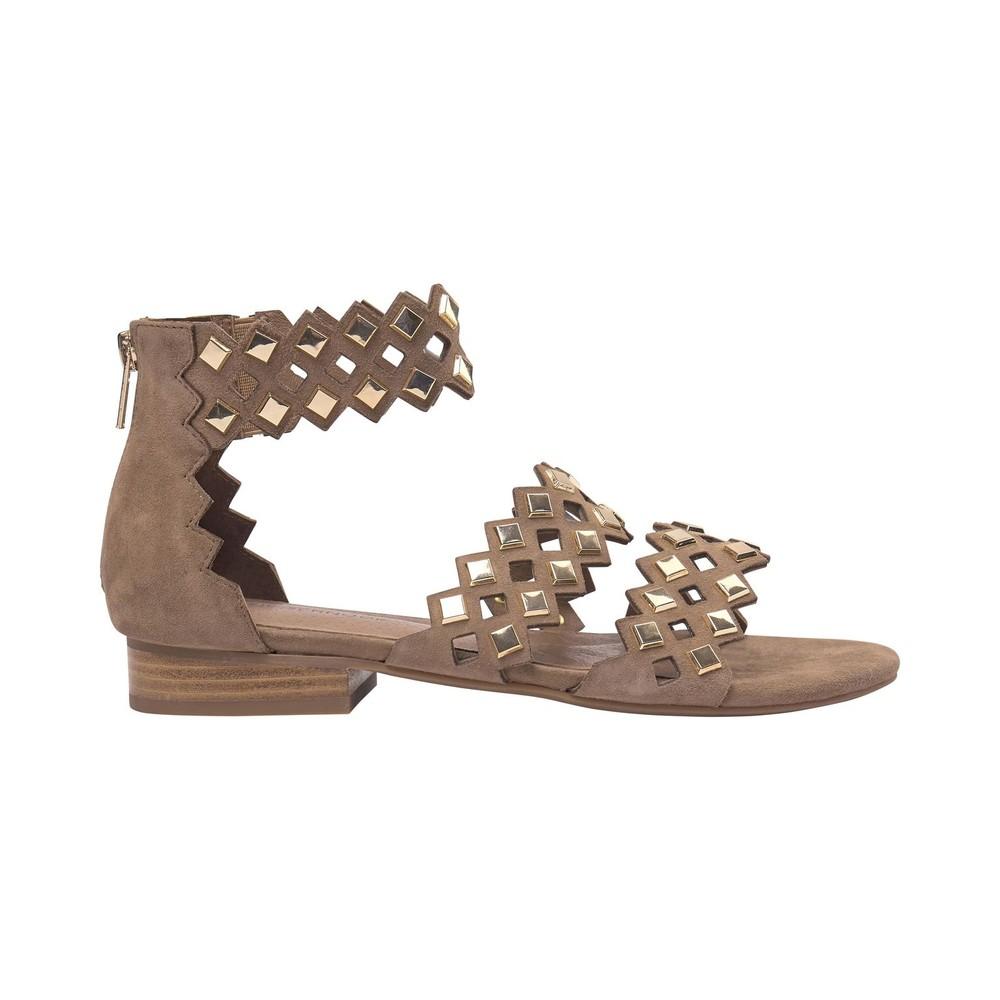 Sofie Schnoor Cut Out Sandals in Nude Beige