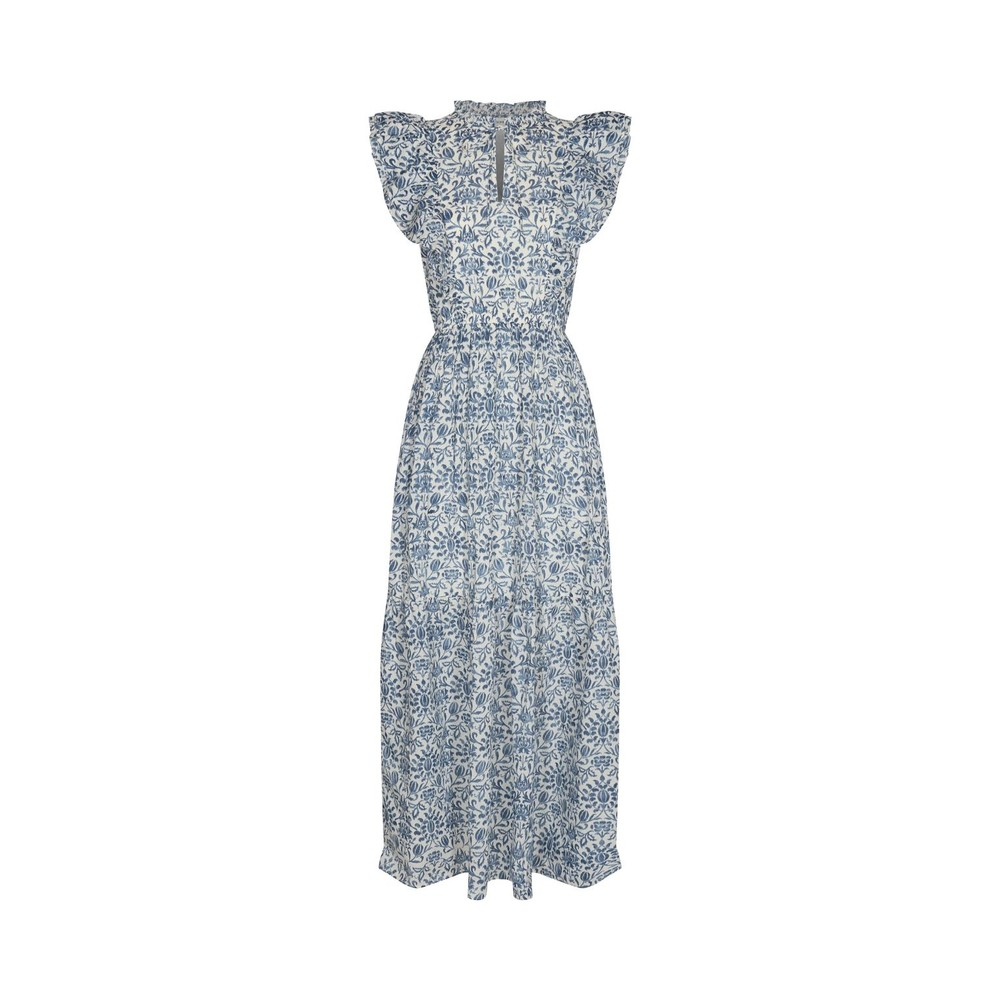 Sofie Schnoor Floral Bohemian Maxi Dress in Blue Blue