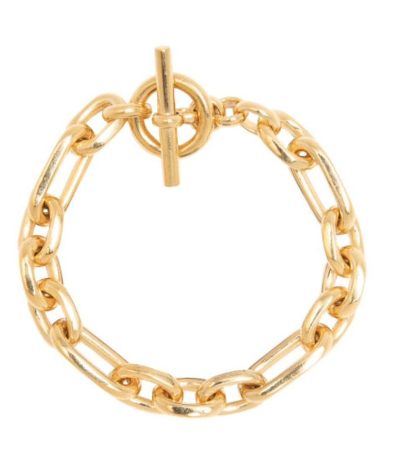 Tilly Sveaas Small Gold Watch Chain Bracelet Gold