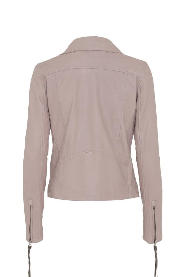 MDK Seattle Thin Leather Jacket in Mushroom Pale Pink