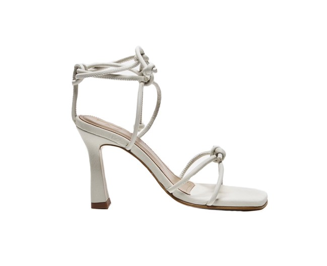 Flattered Rachel Off White Leather Heels White