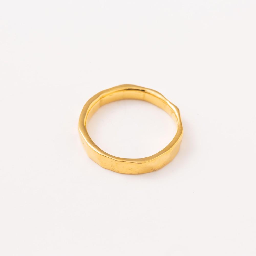 Tippi Wainwright Thin Textured Ring Gold