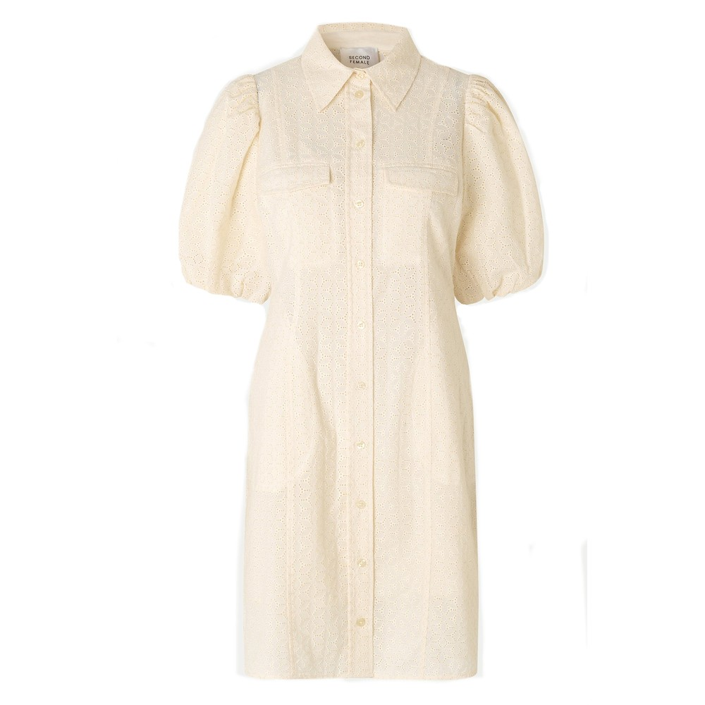 Second Female Bilbao Mini Dress in Parchment White