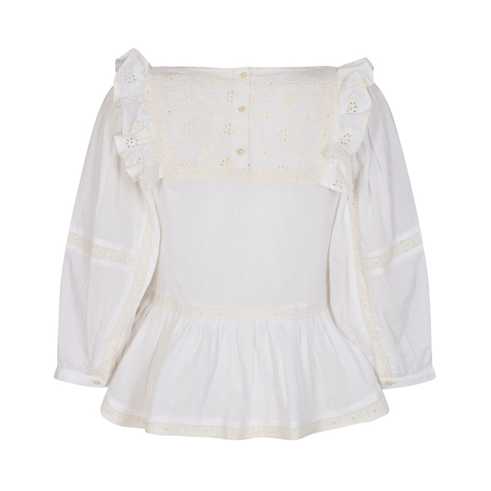 Sofie Schnoor White Broderie Anglaise Blouse White