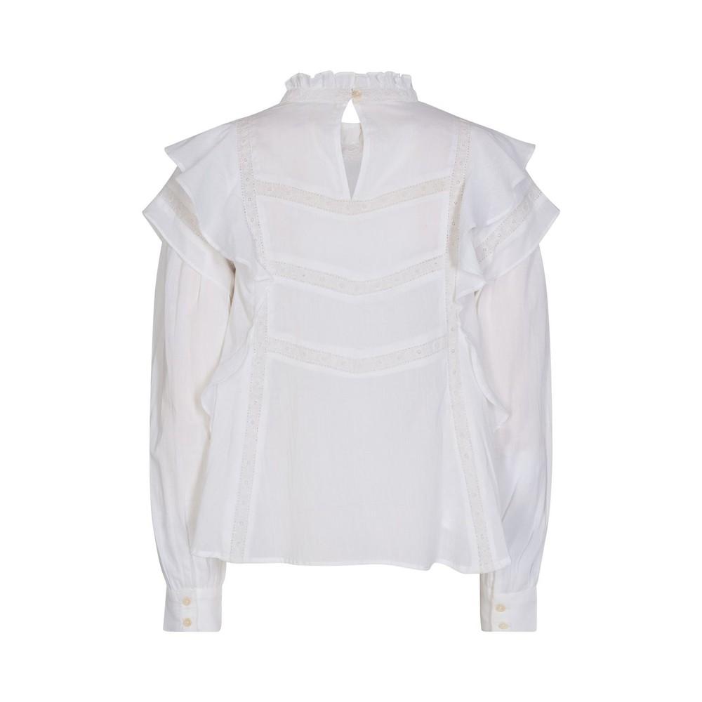 Sofie Schnoor Ruffle Sleeve Blouse in White White