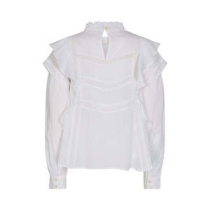 Sofie Schnoor Ruffle Sleeve Blouse in White