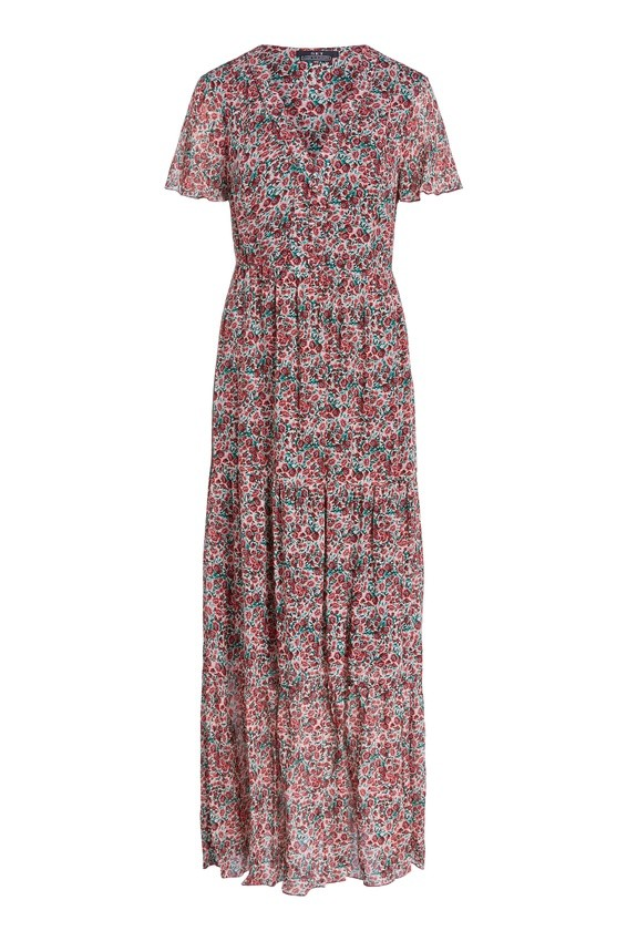 Set Maxi Dress in Poppy Print Red