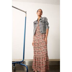 Set Maxi Dress in Poppy Print