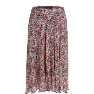 Set Midi Skirt with Poppy Print