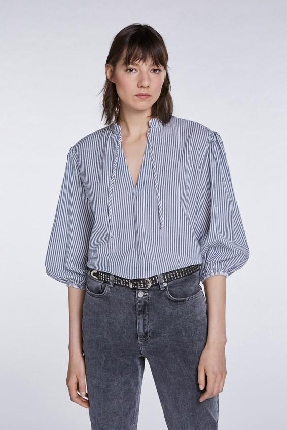 Set Striped Blouse Blue