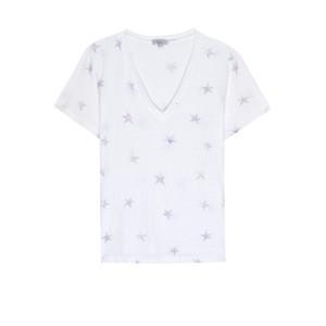 Rails Cara V Neck T Shirt in Dusk Tie Die Stars