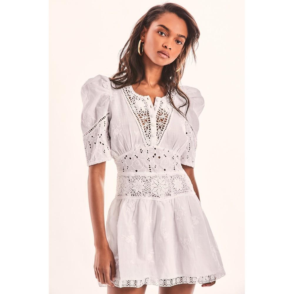 LoveShackFancy Divine Dress in White White