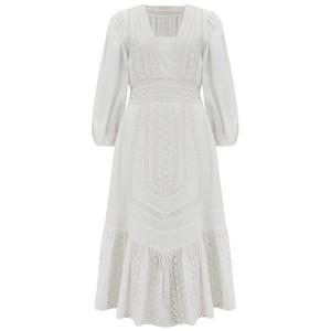 LoveShackFancy Garrison Dress in Fruit Bliss in White