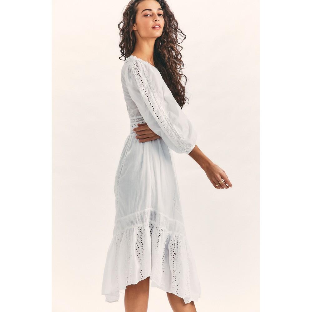 LoveShackFancy Garrison Dress White