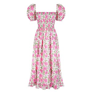 Neve and Noor Ava Dress in Roses in Brown
