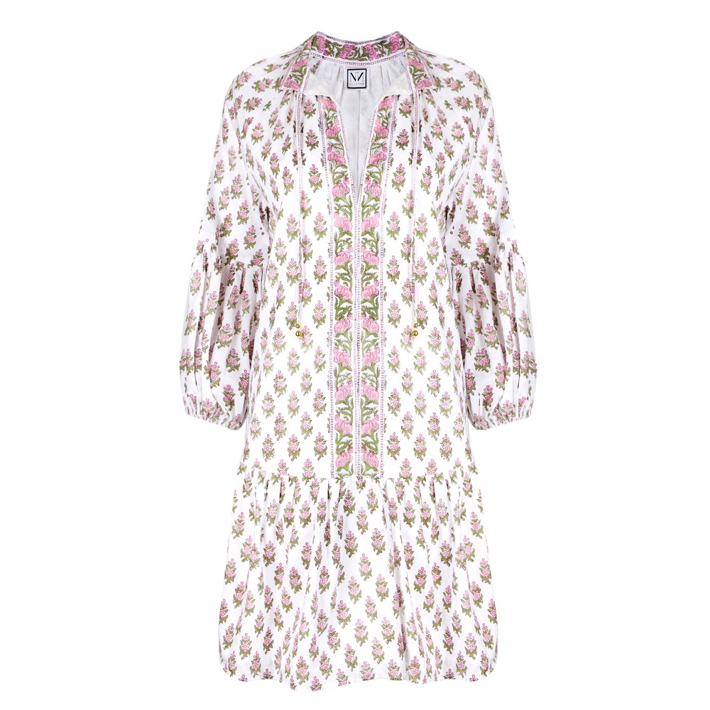 Neve and Noor Mimi Dress in Floral Blush Pink