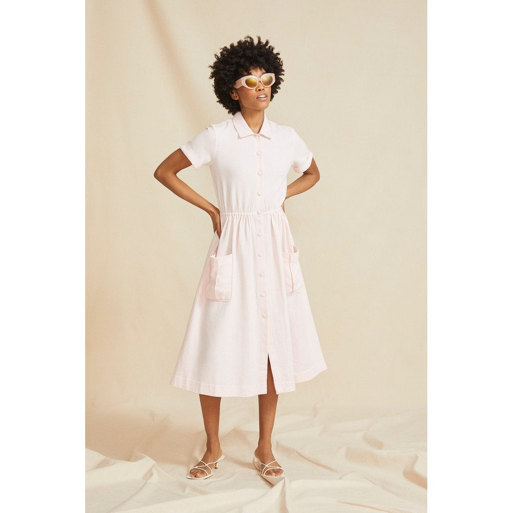 Seraphina The Button Dress Pink