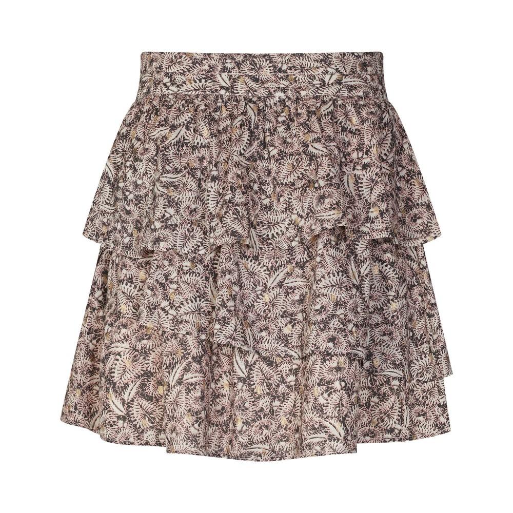 Sofie Schnoor Printed Ruffle Skirt in Nude Pink