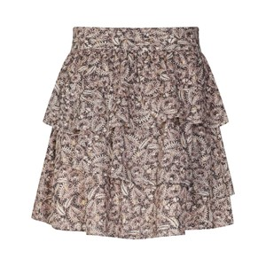 Sofie Schnoor Printed Ruffle Skirt in Nude